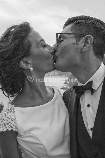 Un bacio e un sorriso