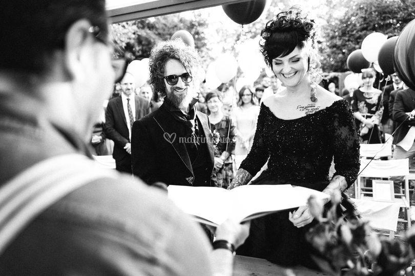 Rock wedding - la cerimonia