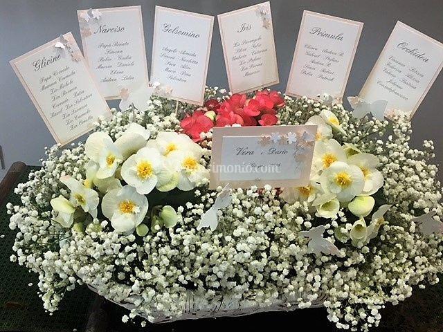 Tableau de mariage nei fiori