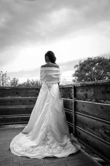 Bride in BW