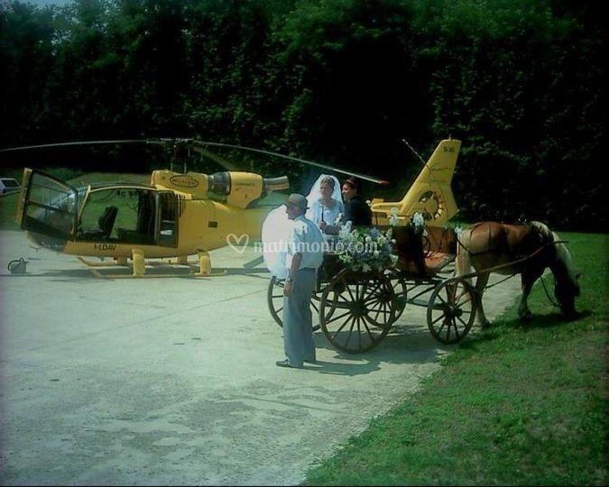 Elicottero e calesse