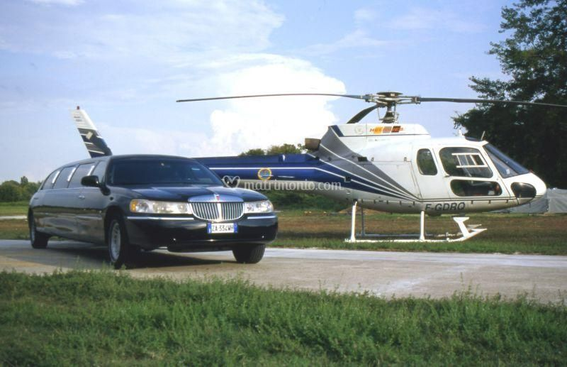 Elicottero e limousine