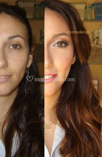 Bridal makeup-before&after
