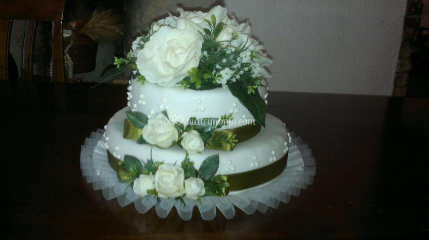 Torta decorata verde