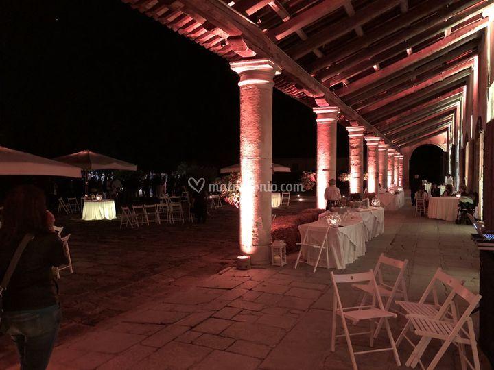 Illuminazione villa matrimonio