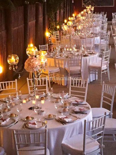 Matrimonio effetto candele