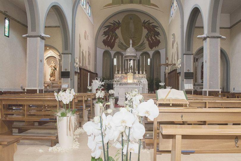 Allestimento in chiesa