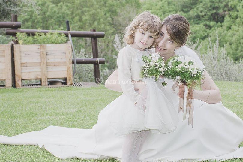 La sposa e la piccola damigell