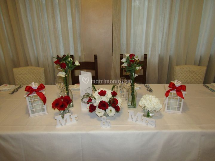 Centrotavola sposi