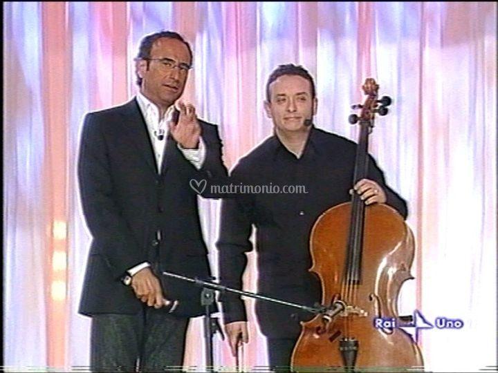 Con Carlo Conti