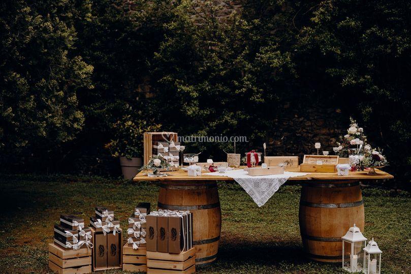 Confettata tema vino