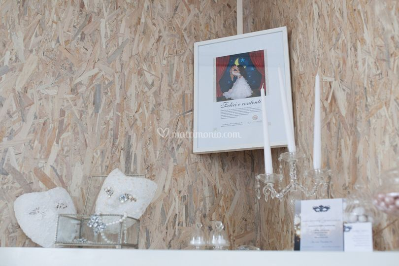 Particolare vetrina wedding