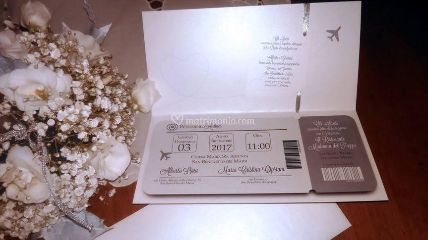 Partecipazione nozze interno