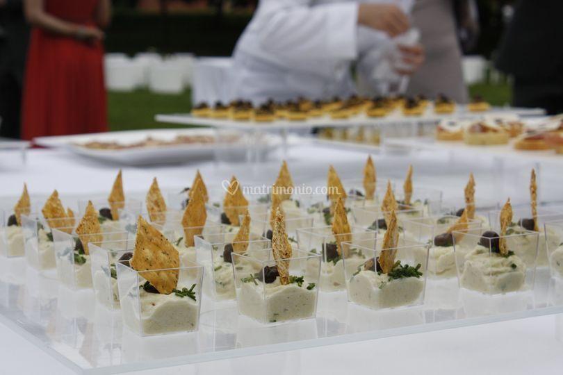 Dettaglio buffet finger food