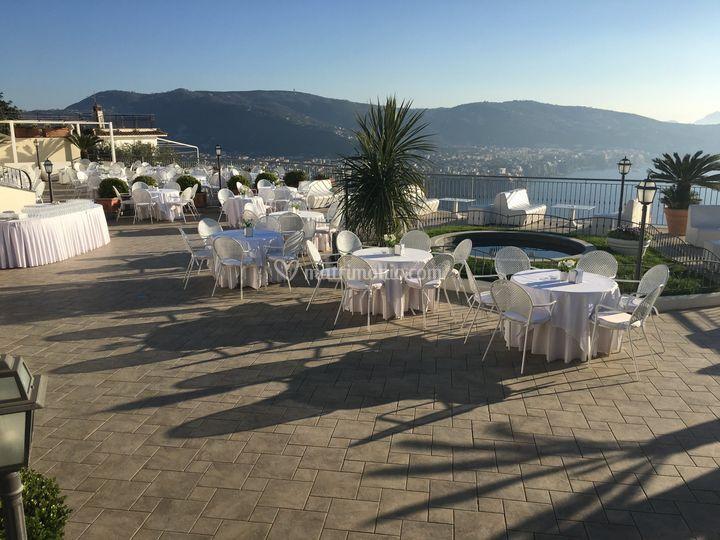 Sun on terrace