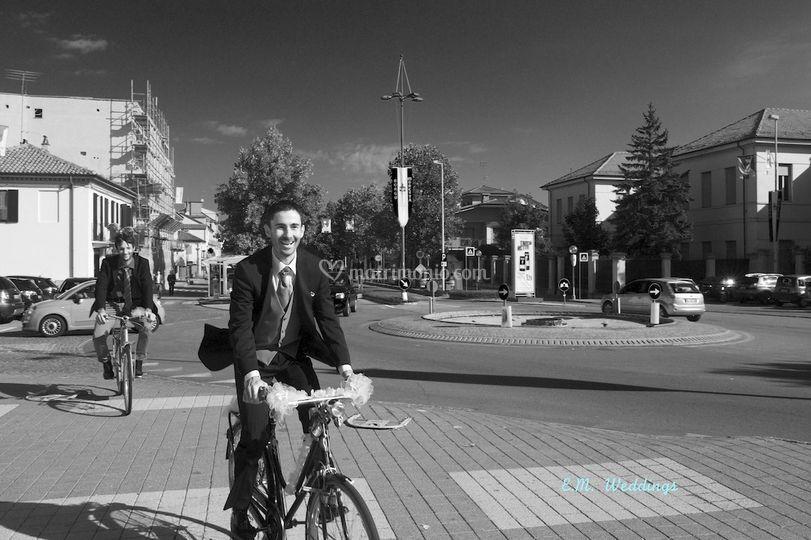 Arrivando in bicicletta