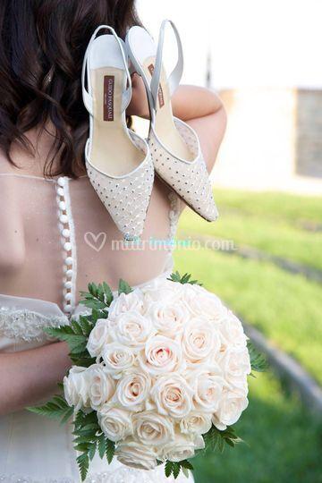 Le scarpe e il bouquet