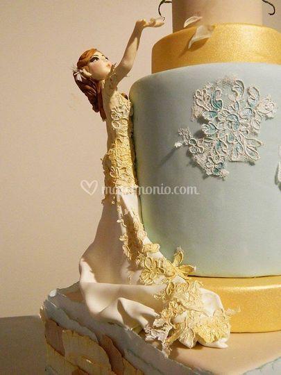 Cake topper sposa