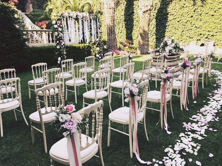 Cerimonia in giardino di giada marcuzzi weddings foto