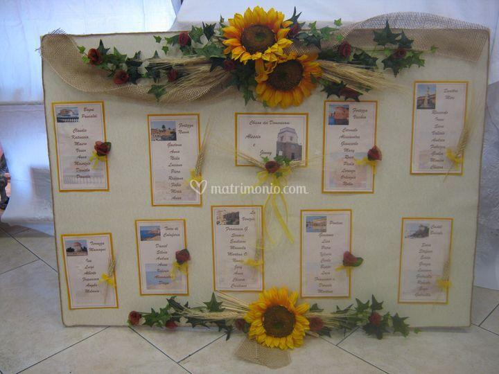 Tableau Matrimonio Girasoli : Tableau con girasoli di tecno grafica foto