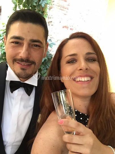 Selfie con lo sposo