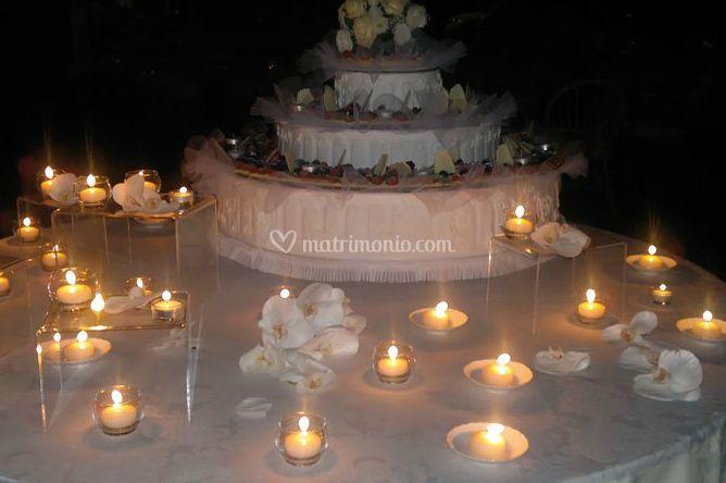 Illuminazione con candele progresso di illuminazione con la