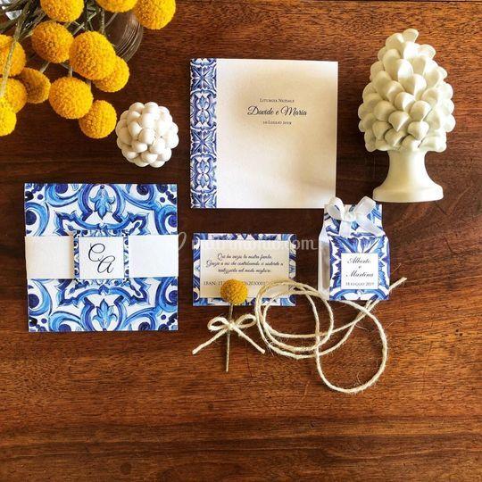 Wedding suite maiolica blu