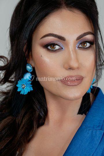 Make up sposa allungato