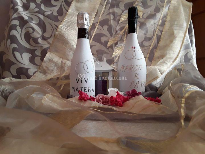 Bottiglie effetto velluto pers