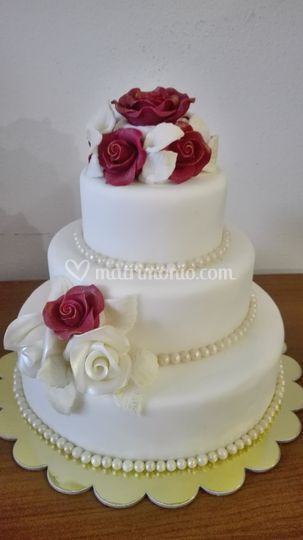 Wedding rose rosse e bianche