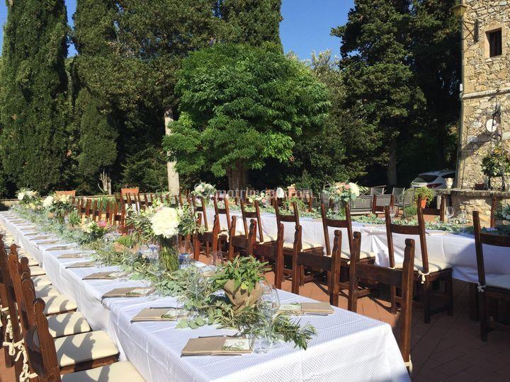 Menu Matrimonio Toscana : Terrazza di borgo il poggiaccio foto