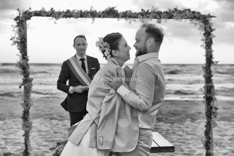 Matrimonio spiaggia Viareggio