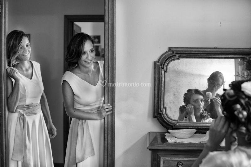 Sposa specchio matrimonio