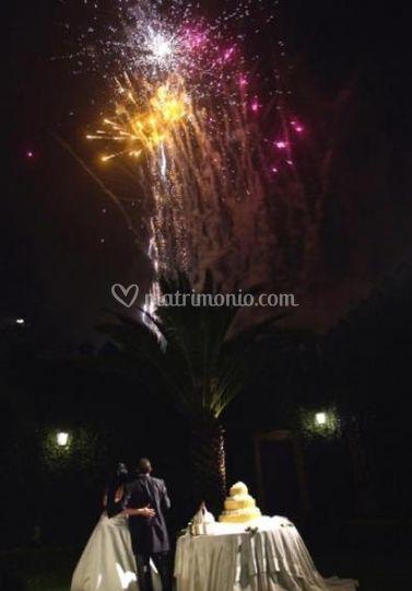 Fuochi d'artificio per matrimoni