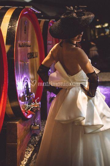 Sposa in barricaia