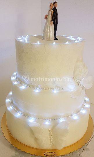 Torta Luminosa sposi