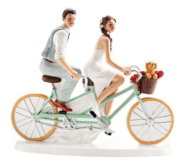 Cake topper su bici