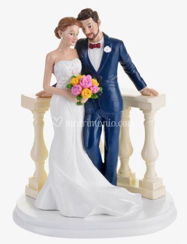 Cake topper Sposi sull'altare