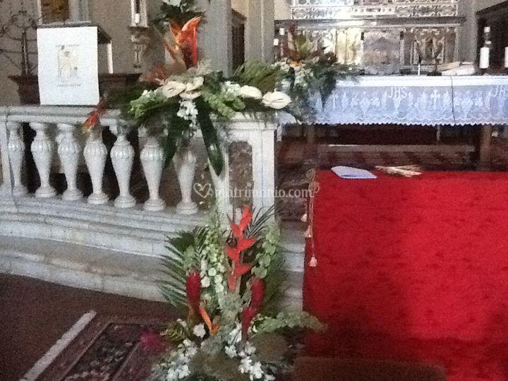 Chiesa allestita