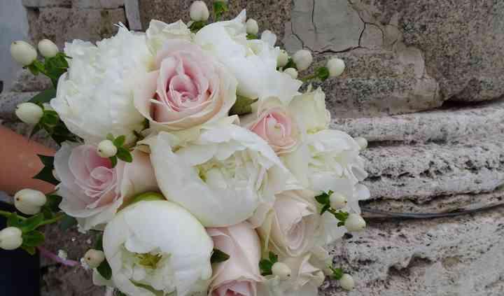 Bouquet da sposa peonie/rose