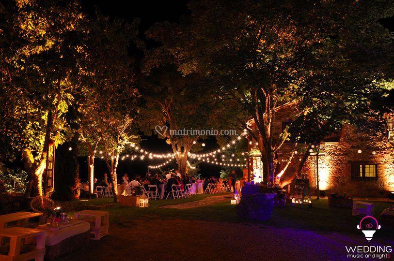 Dj Matrimonio Toscana : Illuminazione e luminarie di wedding party dj foto