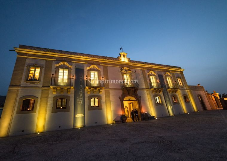 L'ingresso di Villa Alliata Cardillo