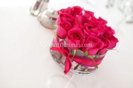 Centrotavola con fiori fai da te - Centros de rosas naturales ...