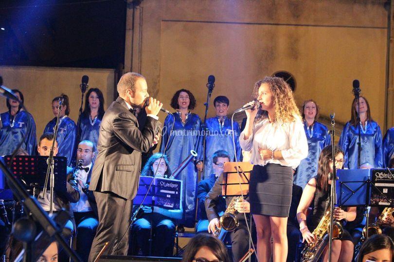 Esibizione con orchestra duo