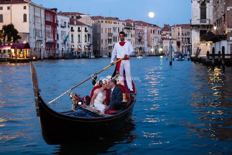 Luna piena in Canal Grande