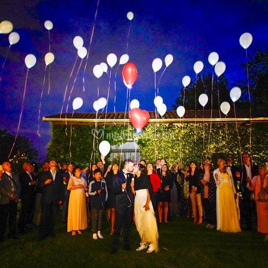Lancio palloncini Led 2019
