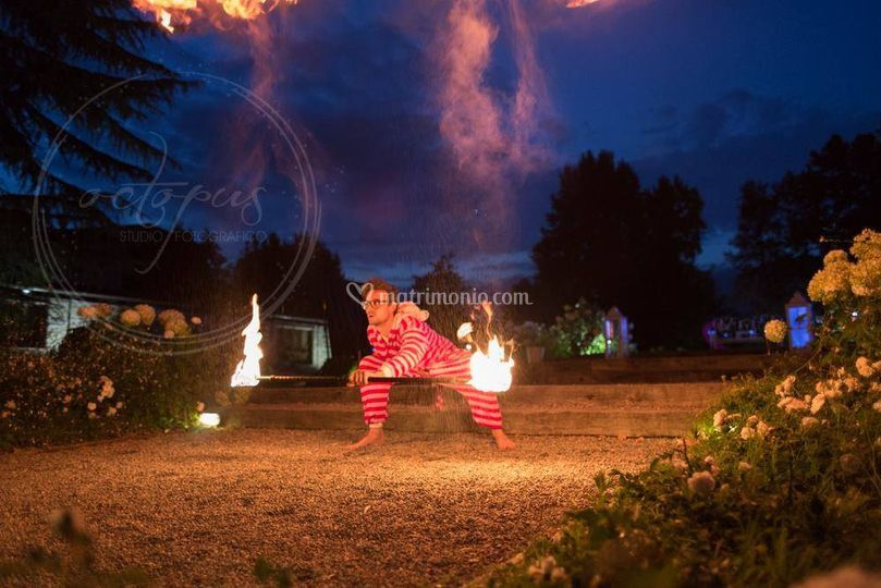 Special theme fire show