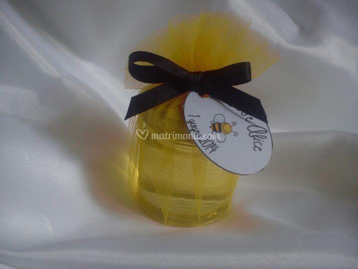 Segnaposto con il miele