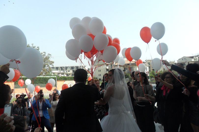 Volata Palloncini Matrimonio