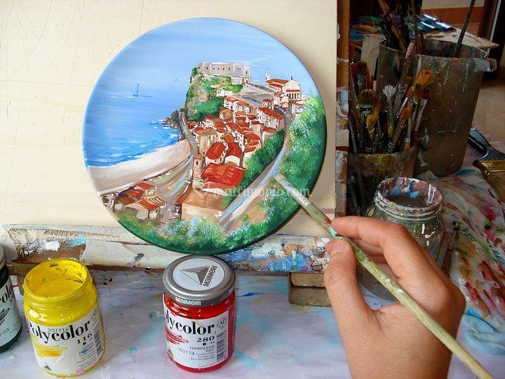 Ceramica dipinta a mano.